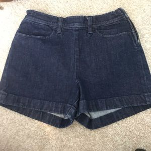 J crew zipper shorts